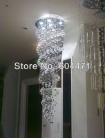 Two-wire line double staircase ,crystal chandelier lights  the living room pendant lamp  aslo for wholesale