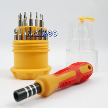DHL free ship universal Manual precision multi function changeable 30 bit electronic torx screwdriver tool set kit