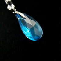 Cosplay Sword Art Online SAO Kirito & Asuna's Child Yui Blue Crystal Gem Stone Pendant Necklace