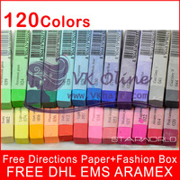 120 colors/set FREE DHL ARAMEX EMS Top Quality hair chalk Temporary Hair Color Pastel With Fashion Box 70 color for u choose