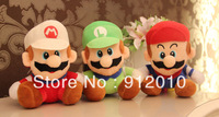 Free Shipping Wholesale Hot Sale 7 Inches(18cm) 12pcs/lot Cute Super Mario Children Plush Toy for Kids's gift Soft Toy