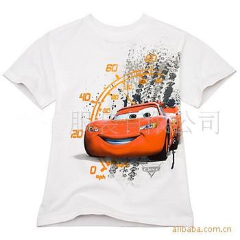 2013 t shirt children boys girls summer tops kids Cartoon car speed table  short-sleeved White blue pink 6pcs/lot free shipping