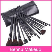 5sets/lot, Black 18PCS Professional Makeup Brush Set, Retail, Wholesale, Free Shipping