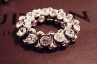 Wholesales 10pcs/lot European style charm trendy jewelry rhinestone stretch shamballa bracelet with shinny crystal beads