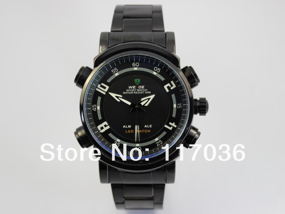 Weide Brand 1101 LED Digital Analog 3ATM Waterproof Watches, Reloj para caballero a prueba de agua modelo nuevo Free shipping(China (Mainland))