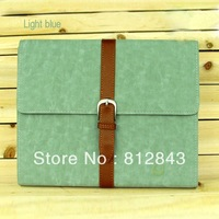 Free shipping High quality fashion case for ipad smart cover and Belt buckle style leather case for ipad2 3 4