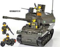 Enlighten Child 9800 K-9 tanks SLUBAN military brick,building block sets,toy blocks plastic educational building free Shipping