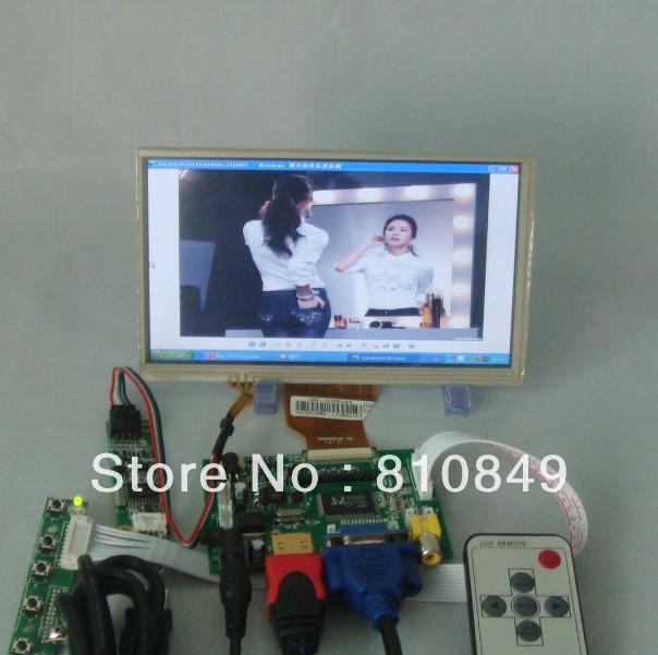 HDMI+VGA+2AV Driver board+7inch 800*480 AT070TN90 lcd panel +Touch panel+ Remote(China (Mainland))