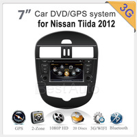 7'' Car radio audio dvd For Nissan Tiida 2012 1GMHZ CPU,DDR2 512M,Virtual 20 CD,4G memory,3G internet,Bluetooth car unit video