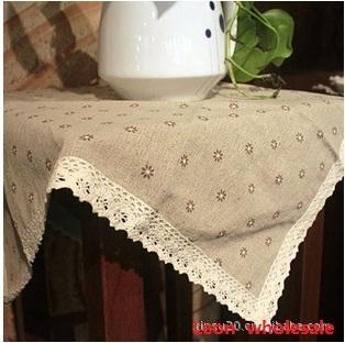 90X90cm Handmade thick linen cotton fabric table mat  bowl pad heat insulation pad zakka ALi xinsu20 003