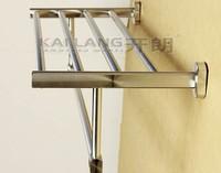 aluminum slatted bath shelf and towel rail bathroom accessories