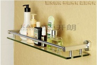 Free shipping aluminum single tier glass shelf bathroom accessories shelves for storage anti rust oxidized surface wall mounted