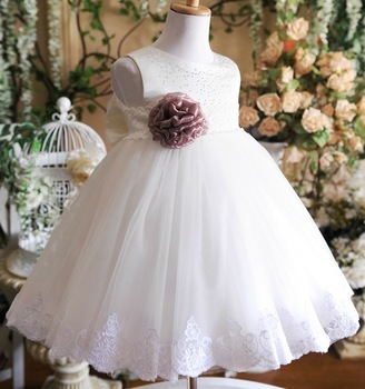 2013  beautiful flower girl dress princess dress one-piece dress  prom dress for girl GD036