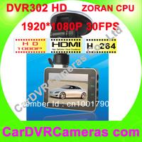 Low price Car Black box 302A,1920*1080 Full HD Car DVR Camera, Zoran Chipset, H.264, Seamless recorder