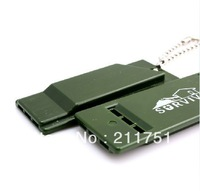 Free shipping 2pcs Olive Green Outdoor Sport Emergency Survival Whistle 3 Frequency Lifesaving whistle