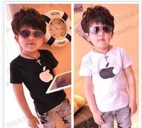 Retail Boys Girls Children T Shirt Fit 3-7Yrs Baby Kids Cotton Cartoon Tee Shirt Clothing 1Pcs/lot  free shipping