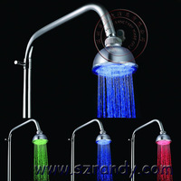LD8010-A1 LED Light Top Shower Head Wholesale for Bathroom Sprayer with Temperature Control Function