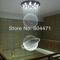 Modern stylish minimalist restaurant, Crystal chandelier living room lights + Free Shipping