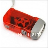 Transparent hand torch hand type automatic power generation flashlight LED mini flashlight