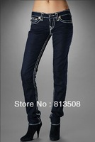 Free shipping wholesale hot sale 2013 high quality 8457 women's denim cool skinny jeans fashion designer leggings size 26-31