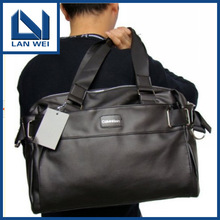 The new 2013 high quality PU men's bags business leisure shoulder hand bag, travel bag free shipping C10100(China (Mainland))