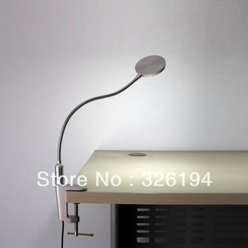 Full Metal 50 LED clamp desk table lamp light, 300 lumens, touch switch(UE-CL5115F)