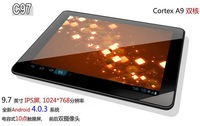 Hot cheap Zenithink C97 ZTPad dual core AMLogic tablet pc Android 4.0 HDMI camera IPS 9.7 inch Capacitive pipo m3 m2 usb 3g m8