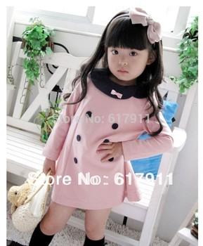 new 2014 Spring HOT Fashion Toddlers dress Girls Kids Princess Dress  Pink child dress Retail