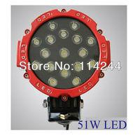 51W 3700LM LED WORK LIGHT FLOOD OFFROADS LAMP TRUCK UTE 4WD 4x4 BOAT SEC-KILL