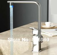 LED Waterfall Faucet 4 basin Mixer Tap 3 color C-901