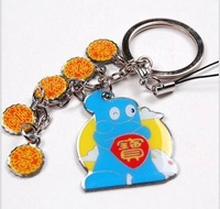 Freeshipping Shanghai World EXPO gift  souvenir 4 partten HaiBao Hypon christmas  key ring key chain keyring accessories P04777