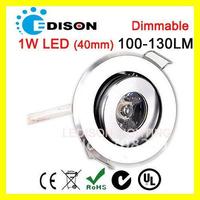 Dimmable Edison 1W LED bathroom ceiling light AC 220V downlight