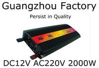 Inverter 12v 220v 2000w home emergency power supply car power converter 2000w inverter Car Inverter Without Digital Display