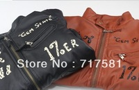 Free shipping! (4 pieces/lot) New children coat  boy aviator leather jacket wholesale