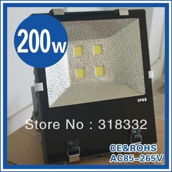 HOT! 200w flood light ,black shell, IP65,Ac85--265V integrated led chip, High Seiko aluminum,2yrs warranty+Freeshipping