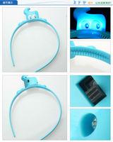 Freeshipping 2010 Shanghai World EXPO gift present souvenir HaiBao Hypon sweet LED hairband hairbands Hair Accessories P08964