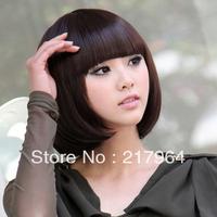 3 Color Stylish Fashionable BOB style glueless full lace wigs free shipping