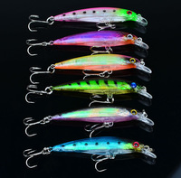 New arrival 8pcs/lot 4 color 8cm/6g bigger fishing lures plastic fishing lures fishing bait,china post free shipping