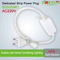 2x AC power cord Non-waterproof power cable use for 220V 5050 led strip plug free shpping