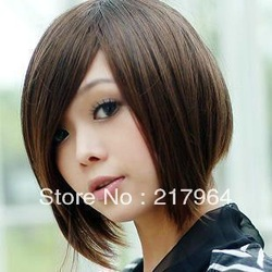 Fashion wigs,BoBo short hair wig + hair nets Free shipping(China (Mainland))