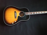 free shipping SOLID GUITAR new arrival  41 inches electric acoustic sunburst john lennon j160e guitar all brown color back