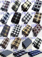 wholesale 2012 Mans Plaid Scarf cashmere wrap cape tassel muffler  big size  we have 13 colors to option