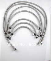 5pcs/lots New Fixible 80cm long Hose Perfect Hose Metal Flexible Hose Shower Pipe Bathroom Accessories KF-0080