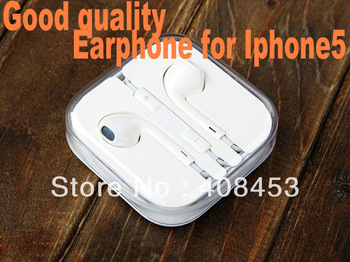 in ear Earpod Earphone headphone with Volume control and Mic for Iphone 5, ipad mini, ipod touch 5,ipod nano 6th+retail packing