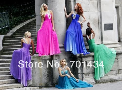 M268 Free shipping A-line custom made chiffon high quality prom dresses 2013(China (Mainland))