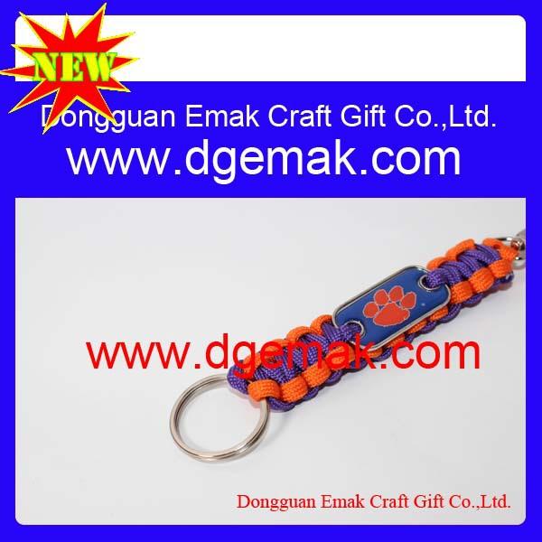 custom lanyard keychain style dog tag survival fashion jewelry key shaped key chain(China (Mainland))