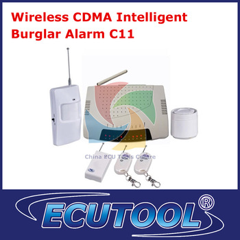 2013 Hot Selling Base Station/Power/MMS/CDMA Alarm System  Wireless CDMA Intelligent Burglar Alarm C11-HKP Free Shipping