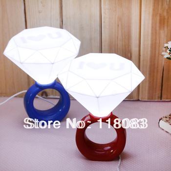Romantic night light LED diamond ring shape, to give the gift of love(1pcs/lot)