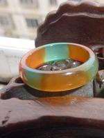 Natural jade agate emerald pearl purple agate rings