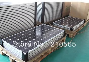 Grade A Brand New 2PCS/Lot 200W Solar Panel Module Monocrystalline 24v system  total 400W Solar PV Module (CE & TUV Certificate)